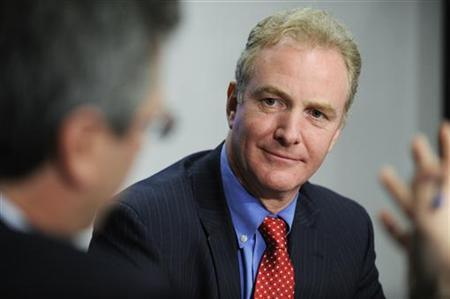 Representative Chris Van Hollen (D-MD), Chairman of the Democratic Congressional Campaign Committee, listens to a question during the 2009 Reuters Washington Summit in Washington, October 20, 2009. REUTERS/Jonathan Ernst