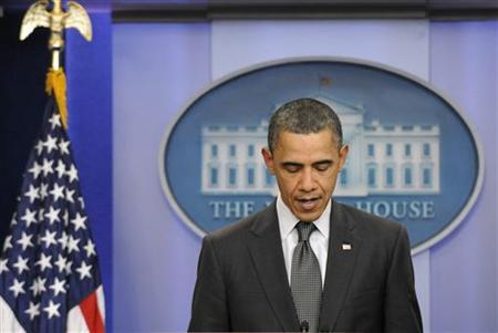 President Obama remarks on the congressional budget impasse at the White House, April 6, 2011. REUTERS/Jonathan Ernst