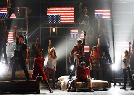 Cast of ''American Idiot'' performs at the American Theatre Wing's 64th annual Tony Awards ceremony in New York June 13, 2010. REUTERS/Gary Hershorn