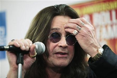Ozzy Osbourne responds to a question backstage during the second of two 25th Anniversary Rock & Roll Hall of Fame concerts in New York October 30, 2009. REUTERS/Lucas Jackson