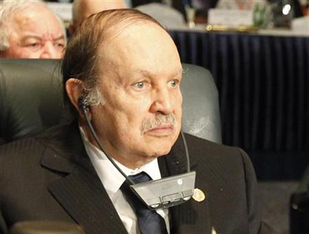 Algeria's President Abdelaziz Bouteflika attends the opening session of the Arab League Second Economic Forum in the Red Sea resort of Sharm el-Sheikh January 19, 2011. REUTERS/Asmaa Waguih
