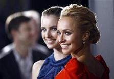 "<p>Cast members Hayden Panettiere (R) and Emma Roberts pose at the premiere of ""Scream 4"" at the Grauman's Chinese theatre in Hollywood, California April 11, 2011. The movie opens in the U.S. on April 15. REUTERS/Mario Anzuoni</p>"