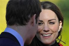 <p>Britain's Prince William and his fiancee Kate Middleton visit St. Andrews University in Fife, Scotland February 25, 2011. The couple made their second official visit together since announcing their engagement in November to St. Andrews University to launch its 600th anniversary celebrations. REUTERS/Toby Melville</p>