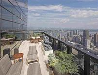 <p>A residential terrace is seen on the 76th floor of Manhattan's Time Warner Center, in what could be New York's highest garden, in this undated handout. REUTERS/Norman McGrath/Rooftop Gardens/Rizzoli 2011/Handout</p>