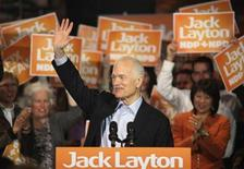 <p>New Democratic Party (NDP) leader Jack Layton speaks to supporters at a campaign rally in Ottawa, Ontario, April 13, 2011. REUTERS/Patrick Doyle</p>