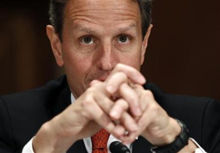 U.S. Treasury Secretary Timothy Geithner testifies before the Senate Appropriations Subcommittee on Financial Services and General Government on Capitol Hill in Washington April 5, 2011. REUTERS/Kevin Lamarque