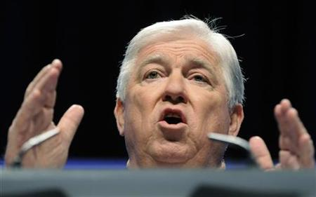 Mississippi Republican Governor Haley Barbour addresses the Conservative Political Action conference (CPAC) in Washington, February 12, 2011. REUTERS/Jonathan Ernst