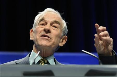 Representative Ron Paul (R-TX) speaks at the Conservative Political Action conference (CPAC) in Washington, February 11, 2011. REUTERS/Jonathan Ernst