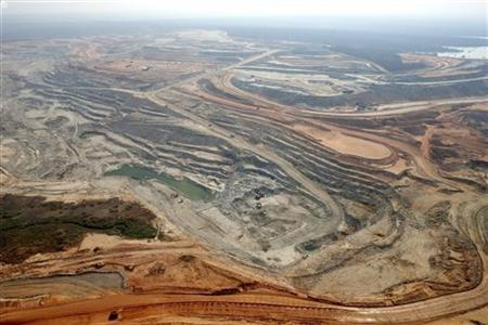 An Equinox copper mine is seen in Lumwana, Zambia, in this aerial view undated handout obtained by Reuters on April 4, 2011. REUTERS/Equinox-Tim Lofthouse/Handout