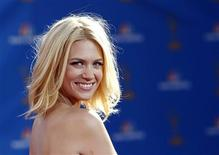 """<p>Actress January Jones from the drama series """"Mad Men"""" poses at the 62nd annual Primetime Emmy Awards in Los Angeles, California, in this file picture taken August 29, 2010. REUTERS/Mario Anzuoni/Files</p>"""