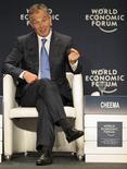 <p>Ex-primeiro ministro britânico Tony Blair em debate durante o Fórum Econômico Mundial sobre América Latina, no Rio de Janeiro. April 29/04/2011 REUTERS/Sergio Moraes</p>