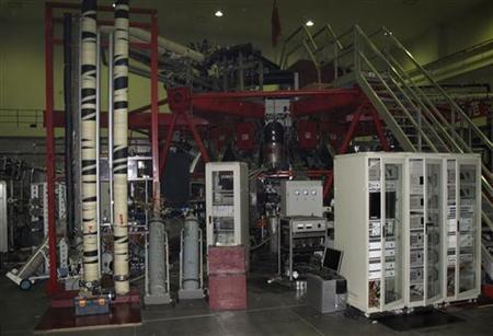Experimental nuclear fusion reactor is seen at a laboratory in the Southwest Institute of Physics in Chengdu, Sichuan Province April 15, 2011. REUTERS/David Stanway