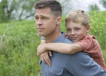 <p>Brad Pitt and Laramie Eppler in a scene from 'The Tree of Life' from director Terrence Malick. REUTERS/Fox Searchlight</p>