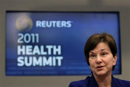 Janet Woodcock, Director of the Center for Drug Evaluation and Research at FDA, speaks during the Reuters Health Summit in New York, May 9, 2011. REUTERS/Brendan McDermid