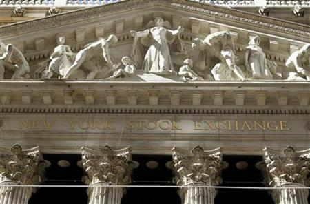 A view shows the facade of the New York Stock Exchange building February 15, 2011. REUTERS/Joshua Lott