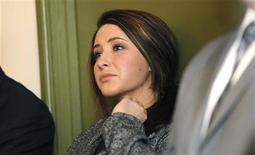 <p>Bristol Palin watches while her mother former Alaska governor Sarah Palin delivers her keynote speech at the Reagan 100 opening banquet at the Reagan Ranch Center in Santa Barbara, California February 4, 2011.REUTERS/Mario Anzuoni</p>