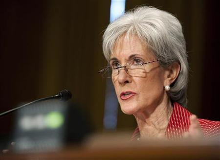 Kathleen Sebelius, Secretary of Health and Human Services, testifies to the Senate Finance Committee in Washington March 16, 2011. REUTERS/Joshua Roberts