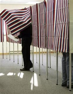 A voting booth in Hartland, Wisconsin, in a 2008 photo. REUTERS/Allen Fredrickson