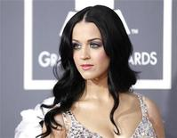 <p>Singer Katy Perry poses on arrival at the 53rd annual Grammy Awards in Los Angeles, California February 13, 2011. REUTERS/Danny Moloshok</p>