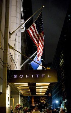 The Sofitel Hotel is seen in New York May 14, 2011. IMF chief Dominique Strauss-Kahn, a possible candidate for the French presidency, was taken into custody at JFK airport earlier on Saturday over an alleged sexual assault of a hotel maid in New York City. REUTERS/Allison Joyce