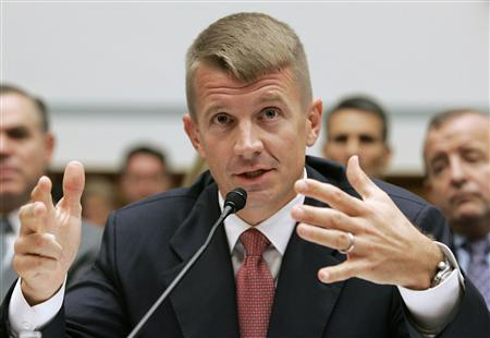 Blackwater USA Chief Executive Erik Prince testifies before the House Oversight and Government Reform Committee on security contracting in Iraq and Afghanistan on Capitol Hill in Washington in this October 2, 2007 file photo. REUTERS/Larry Downing/Files