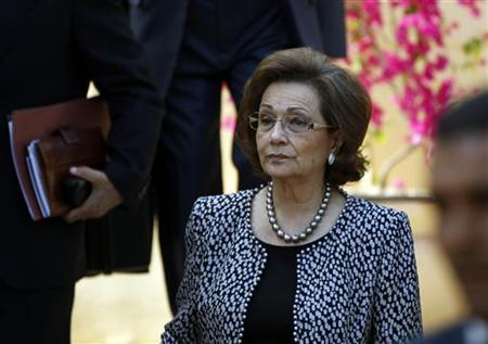 Suzanne Mubarak, attends a forum in Luxor, southern Egypt December 11, 2010. REUTERS/ Goran Tomasevic