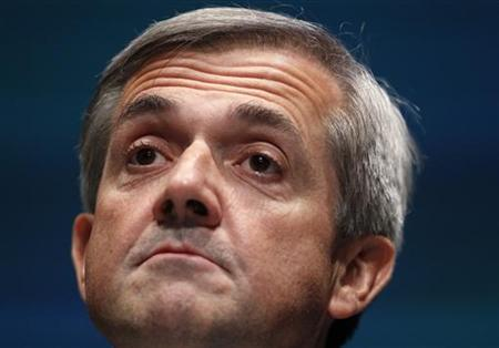 Energy Secretary Chris Huhne gestures as he delivers his speech at the Liberal Democrat Party's conference in Liverpool, northern England September 21, 2010. REUTERS/Phil Noble