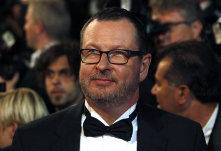 Director Lars Von Trier arrives on the red carpet for the screening of the film ''Melancholia'' in competition at the 64th Cannes Film Festival, May 18, 2011. REUTERS/Jean-Paul Pelissier