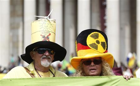 Several thousands protesters take part at an anti-nuclear demonstration in Munich May 28, 2011. REUTERS/Michaela Rehle
