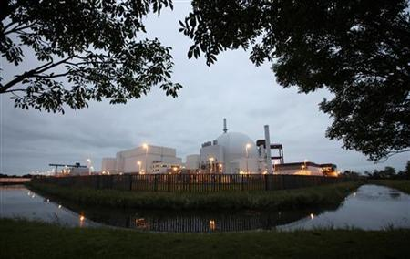 A general view of the Brokdorf nuclear power plant of German utility giant E.ON in Brokdorf near Hamburg September 28, 2010. REUTERS/Christian Charisius