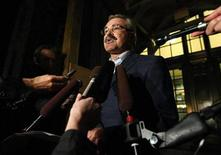 <p>Canada's Agriculture Minister Gerry Ritz makes a statement to journalists on Parliament Hill in Ottawa September 17, 2008. REUTERS/Chris Wattie</p>