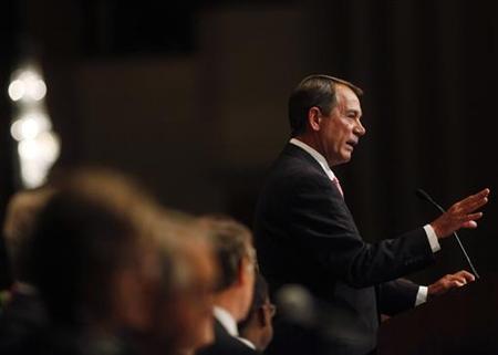 U.S. House of Representatives Speaker John Boehner speaks at the Economic Club of New York May 9, 2011. REUTERS/Shannon Stapleton