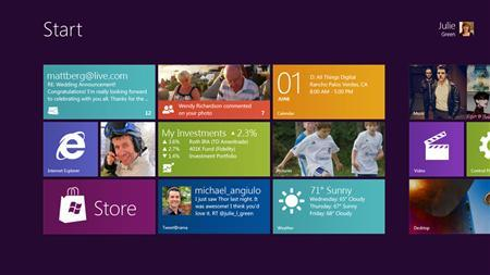 A screenshot of Microsoft's Windows 8 OS is seen in this handout image. REUTERS/Microsoft Corp