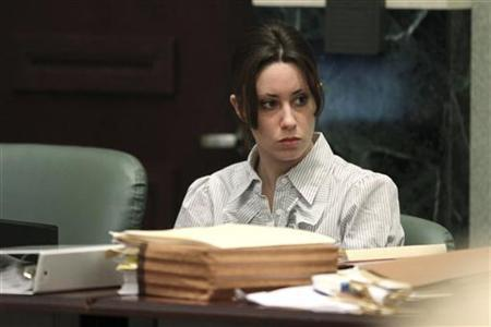 Casey Anthony sits at the defense table during the second day of testimony in her first-degree murder trial at the Orange County Courthouse in Orlando, Florida May 25, 2011. REUTERS/Red Huber/Pool