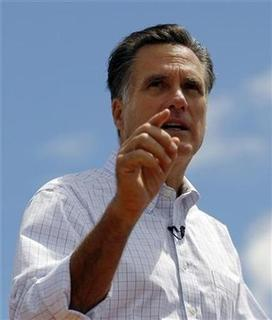 Former Massachusetts Governor Mitt Romney announces that he is formally entering the race for the 2012 Republican U.S. presidential nomination in Stratham, New Hampshire June 2, 2011. REUTERS/Brian Snyder