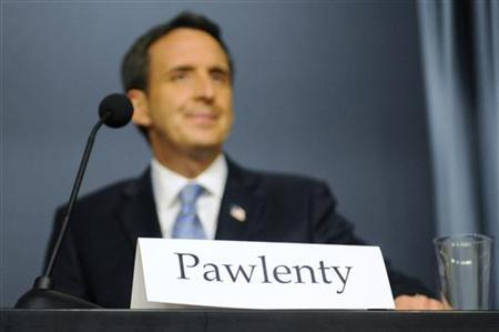Republican presidential contender Tim Pawlenty arrives to deliver remarks at the Cato Institute, May 25, 2011. REUTERS/Jonathan Ernst