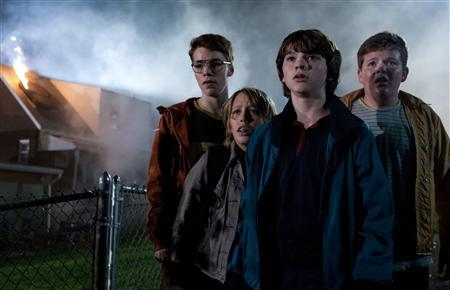 Gabriel Basso, Ryan Lee, Joel Courtney and Riley Griffiths in a scene from''Super 8''. REUTERS/Paramount Pictures