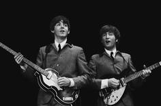 <p>Paul McCarthy and John Lennon are seen in a photograph taken by Mike Mitchell that will soon go on auction at Christie's. REUTERS/Christie's/Handout</p>