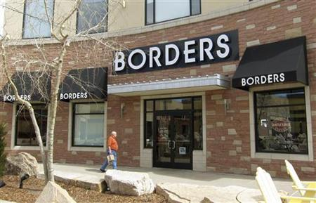 A customer enters the Borders bookstore in Broomfield, Colorado March 16, 2011. REUTERS/Rick Wilking