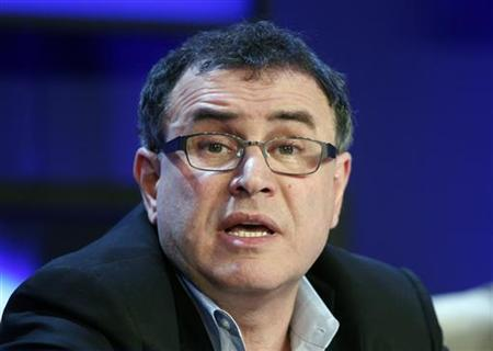 Nouriel Roubini, economics professor at Stern School of Business at New York University, attends a session at the World Economic Forum (WEF) in Davos January 26, 2011. REUTERS/Vincent Kessler