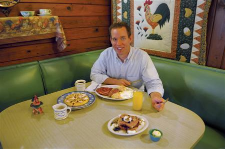 Morgan Murphy is seen at the Colonial Pancake House in Hot Springs, Arkansas, 2010. REUTERS/Southern Living Off the Eaten Path/Handout