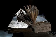 <p>A book from the Bardejov School. REUTERS/Yuri Dojc/Handout</p>
