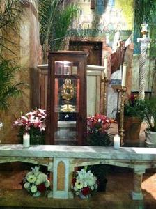 In this undated photograph provided by the Los Angeles Archdiocese to Reuters June 14, 2011, the relic of St. Anthony and the 16-inch case, or reliquary, that houses it, is pictured. REUTERS/Courtesy Los Angeles Archdiocese/Handout