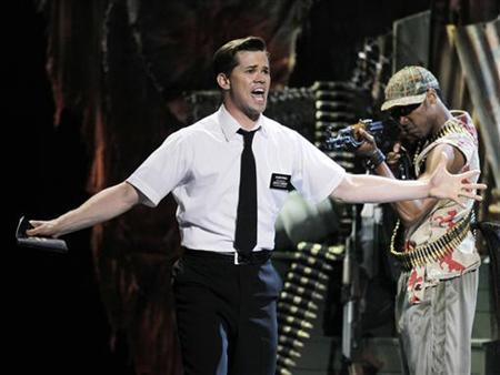 Actor Andrew Rannells (L) performs a scene from 'Book of Mormon' during the American Theatre Wing's 65th annual Tony Awards ceremony in New York, June 12, 2011. REUTERS/Gary Hershorn