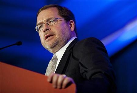 Grover Norquist, chairman of Americans for Tax Reform, speaks at the Faith and Freedom Coalition in Washington June 3, 2011. REUTERS/Joshua Roberts