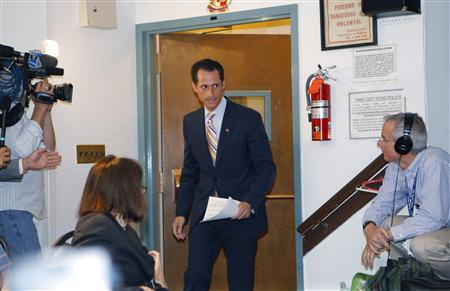Rep. Anthony Weiner (D-NY) arrives to announce that he will resign from the United States House of Representatives during a news conference in Brooklyn, New York, June 16, 2011. REUTERS/Mike Segar
