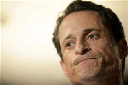 U.S. Congressman Anthony Weiner (D-NY) reacts as he speaks to the press in New York, June 6, 2011. REUTERS/Brendan McDermid