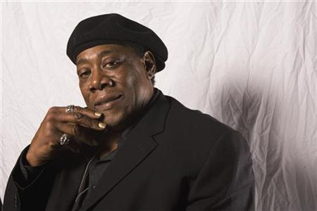 Musician Clarence Clemons poses for a portrait while promoting his new book ''Big Man'' in New York October 21, 2009. REUTERS/Lucas Jackson