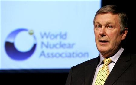John Ritch, Director General of the World Nuclear Association, delivers his speech at the 15th Pacific Basin Nuclear Conference in Sydney October 16, 2006. REUTERS/Tim Wimborne