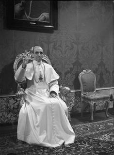 Pope Pius XII, the wartime pontiff, appears in an undated file photo from the archives of Vatican newspaper Osservatore Romano. REUTERS/Osservatore Romano